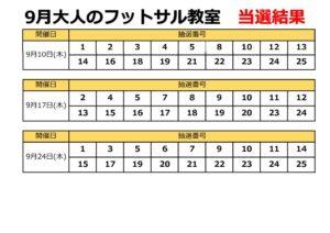 【9月当選】大人のフットサルのサムネイル